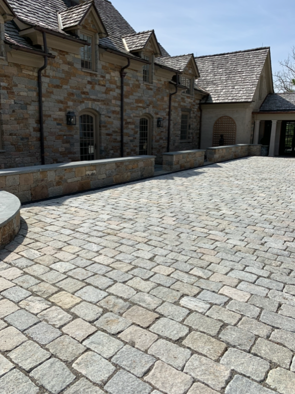 Stone Courtyard Project in Tewksbury, NJ